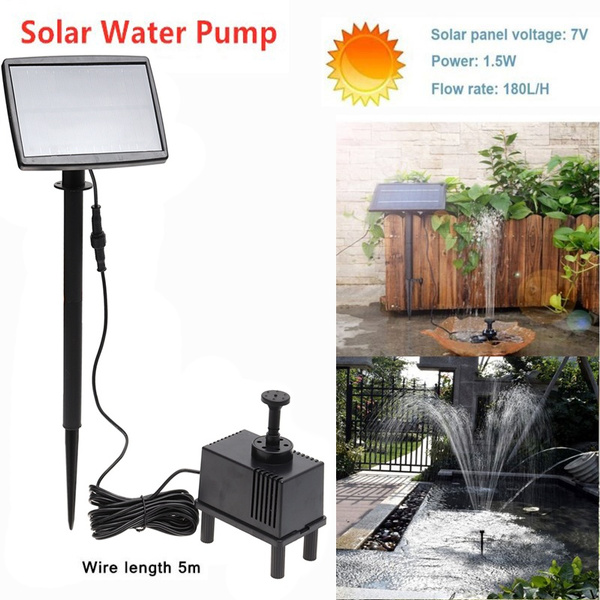 solarpanelwaterpump, Garden, fountainwaterpump, water