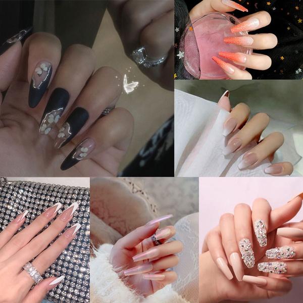 acrylic nails, nail tips, Beauty, gel nails