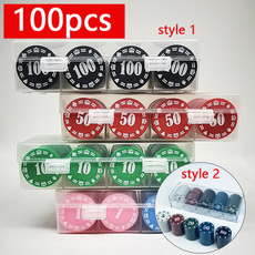 Poker, Chess, Colorful, Chips