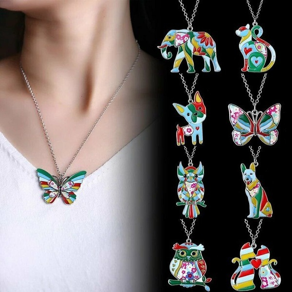 butterfly, Fashion, Chain, women necklace