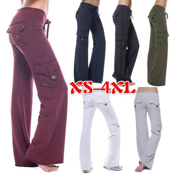 Women Pants, drawstringpant, Plus Size, Yoga