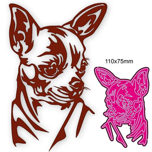 Head, stencil, dogstencil, Metal