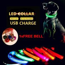 led, hundcollar, nylonnecklace, Dog Collar