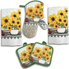 potrackovenglove, Decor, Sunflowers, Pot