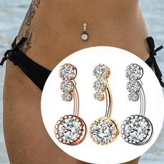 Steel, navel rings, piercingnombril, dangling