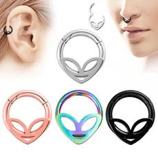 Steel, septumring, earpiercing, cartilage earrings