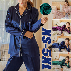 pajamaset, nightwear, silk, Sleeve