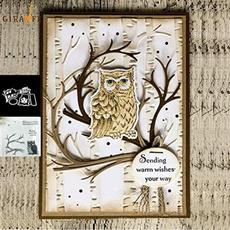 Owl, Scrapbooking, Stamps, cuttingdie