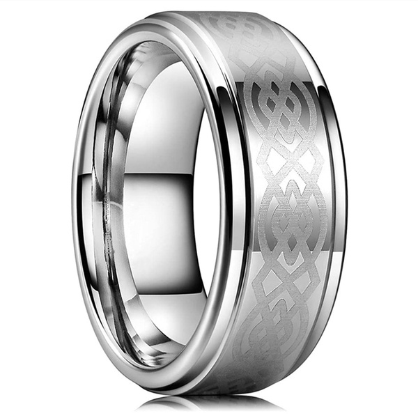 8MM, tungstenring, Laser, Jewelry