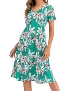 Print, Women's Fashion, sleeve dress, Dress