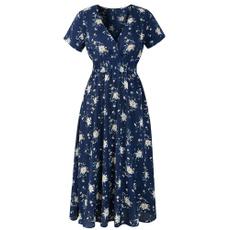 elastic waist, Floral print, Waist, Elastic