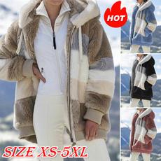 Casual Jackets, Plus Size, fur, Winter