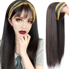 wig, Head, Hair Extensions, longstraightwig