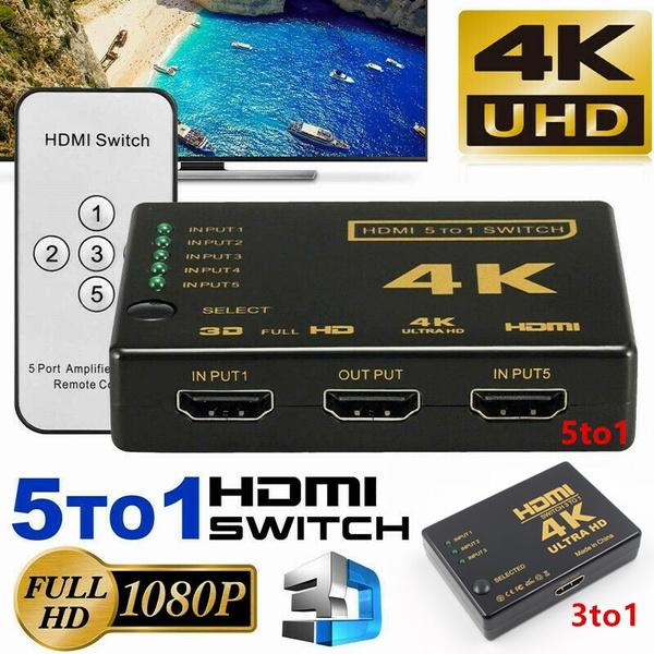 hdmiswitch, Mini, 4khdmisplitte, Remote Controls