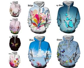 Couple Hoodies, 3D hoodies, Fashion, Butterflies