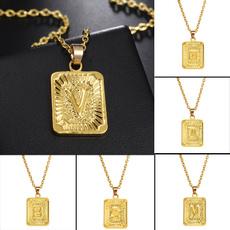 18k gold, Joyería, Chain, pendantgift