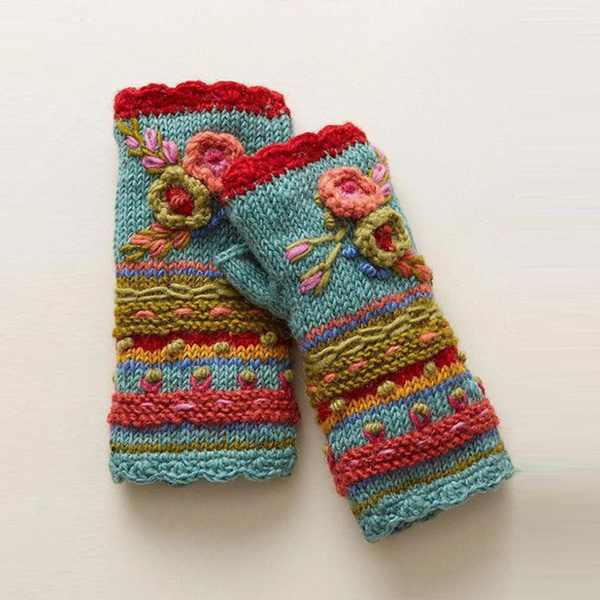 cableknitbeanie, Flowers, Mittens, slouch