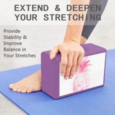 nonslipyogabrick, Yoga, psychedelicpineappleyogabrick, yogabrick