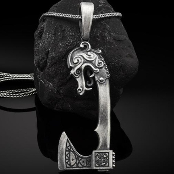 punk necklace, vikingnecklace, Stainless Steel, amulet