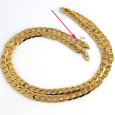 8MM, Chain Necklace, 18kgoldnecklace, Jewelry