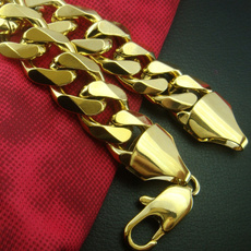 yellow gold, Chain Necklace, gold bracelet, Chain