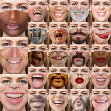 Funny, Fashion, mouthmask, adultmask
