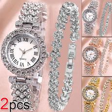 Charm Bracelet, Crystal Bracelet, DIAMOND, Watch