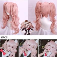 wig, pink, Fiber, junkoenoshima