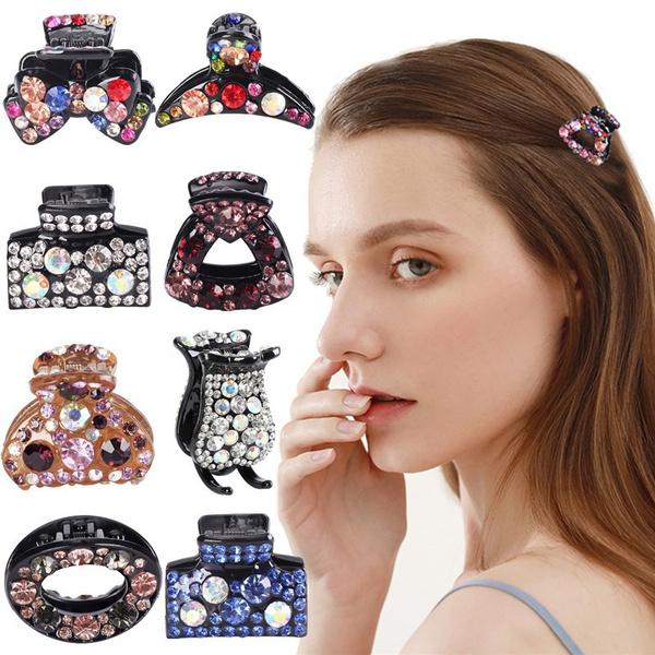 Korea fashion, Fashion, hairclamp, Rhinestone