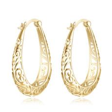 Jewerly, gold, Stud Earring, Hoop