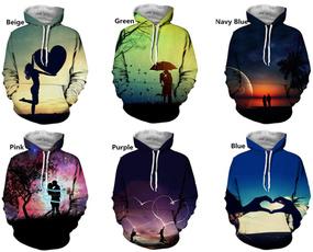 Couple Hoodies, 3D hoodies, Fashion, Love