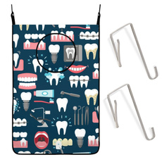 dentalseamlesspatternhangingdirtyclothesbag, waterprooflaundryhamperbag, Bathroom, Closet