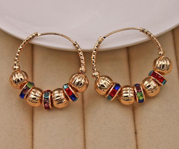 bighoopearring, Charm Jewelry, Hoop Earring, ruby
