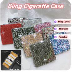 case, Box, Bling, womencigarettecase