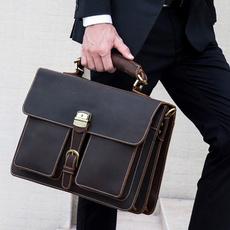 Shoulder, Shoulder Bags, Genuine, Briefcase