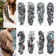 tattoo, fake tattoo, skulltattoo, art