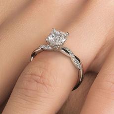 Beautiful, DIAMOND, 925 sterling silver, wedding ring