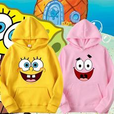 hoodiesformen, lovely, cartoonprintedhoodie, purecoloredhoodie