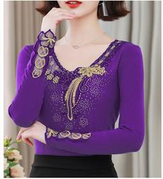 blouse, Plus Size, DIAMOND, Lace