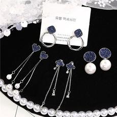 DIAMOND, Pearl Earrings, earringsforgirl, giftearring