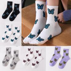 butterfly, Cotton Socks, korean style, Socks