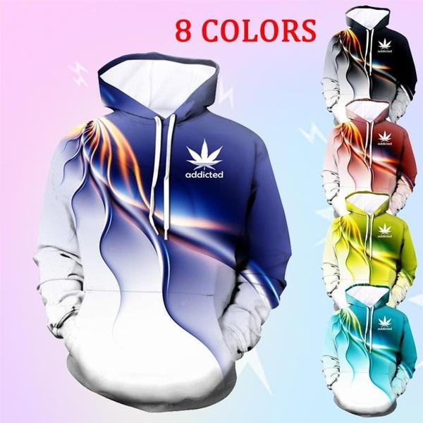 lightingprintedhoodie, Hoodies, Long Sleeve, 3dhoodiessweatshirt