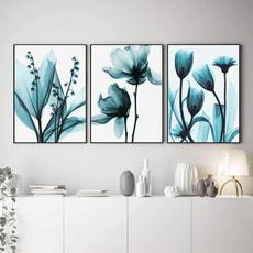 art print, Blues, Plants, posters & prints