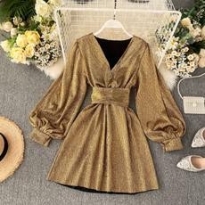 silk, Sleeve, gold, Color