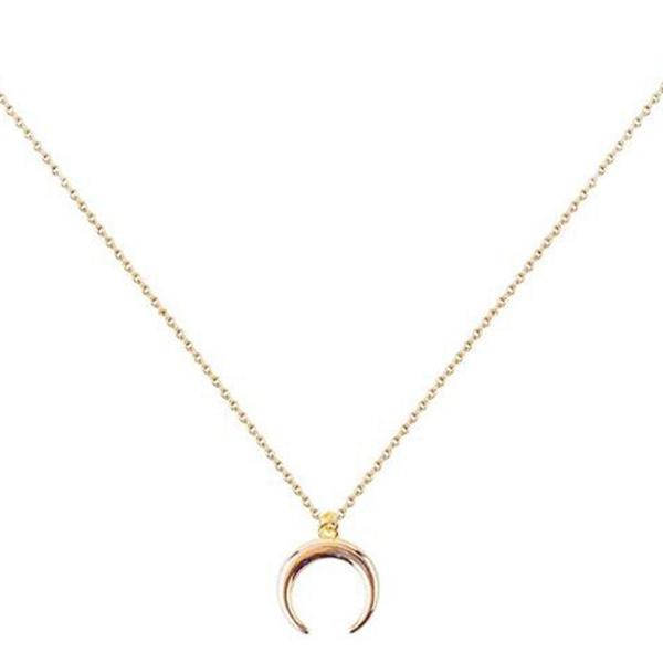 curvedcrescentnecklace, Chain, crescentpendant, halfmoonnecklace