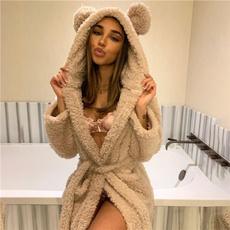 cute, Plus Size, Bathrobe, Women's Fashion