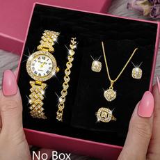 DIAMOND, crystaljewelryset, Watch, Quartz Watches