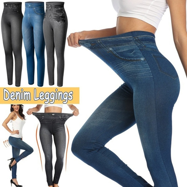 Jeans, denimjegging, Plus Size, compressionlegging