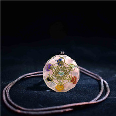 crystal pendant, Flowers, Jewelry, pinknecklace
