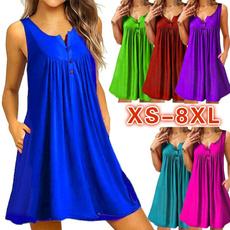Summer, Plus Size, pleated dress, Mini